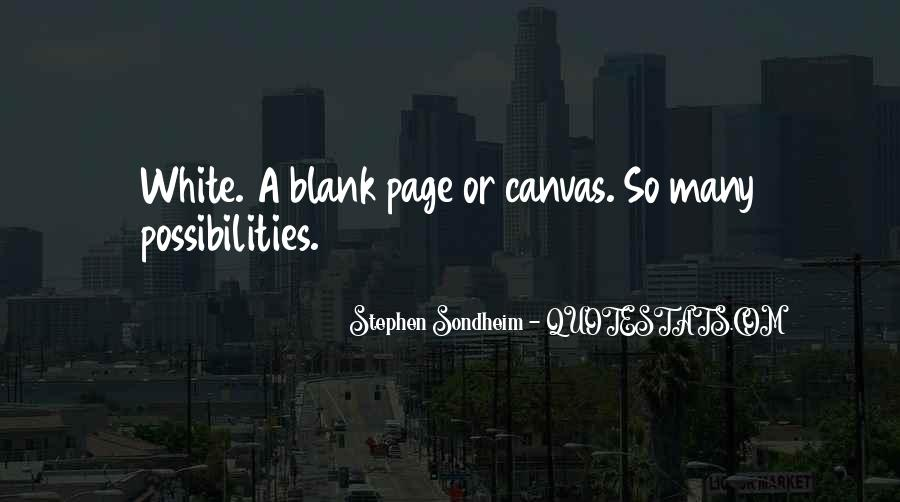 Quotes About Blank Page #248539