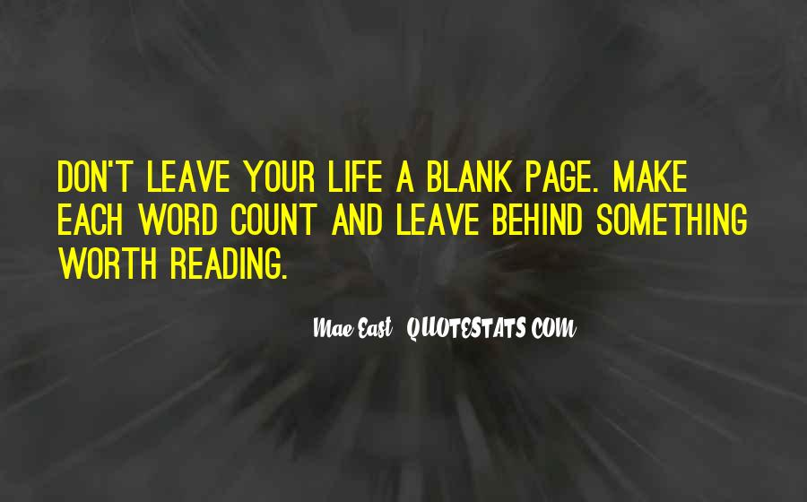 Quotes About Blank Page #373872