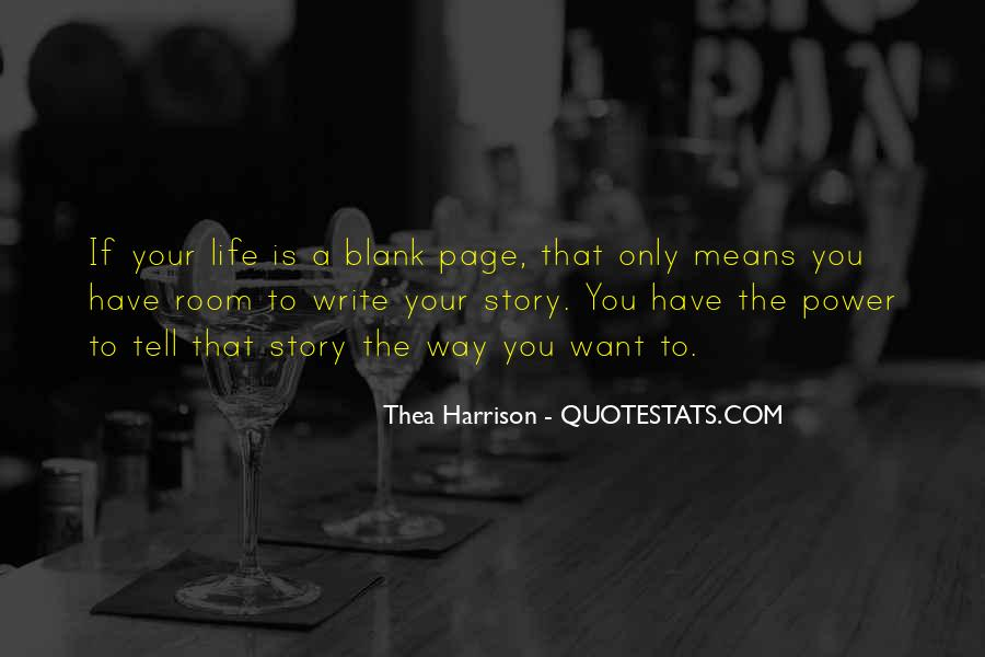 Quotes About Blank Page #42332
