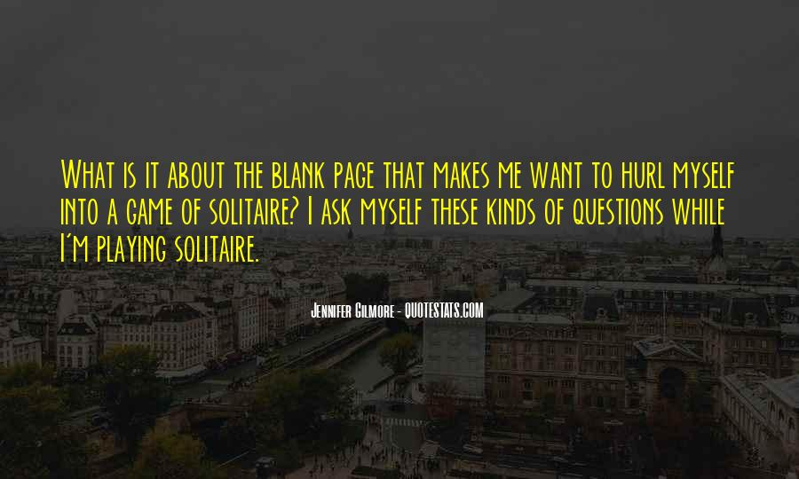 Quotes About Blank Page #449352