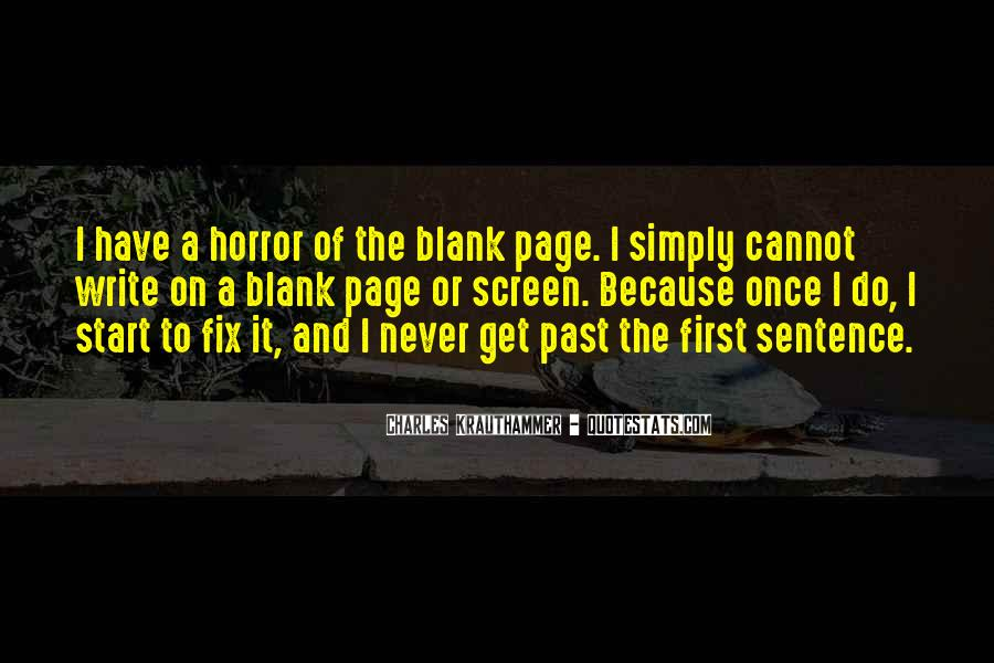 Quotes About Blank Page #55086