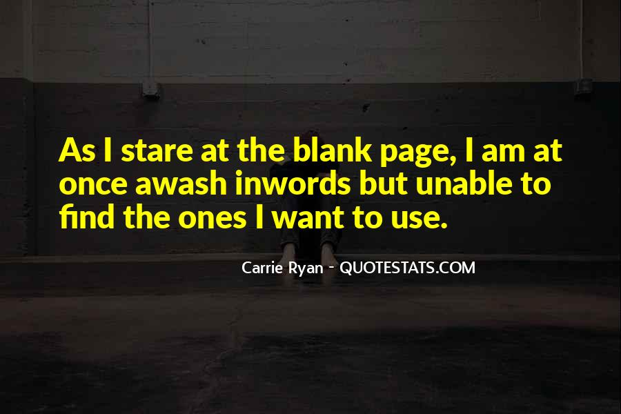 Quotes About Blank Page #625598