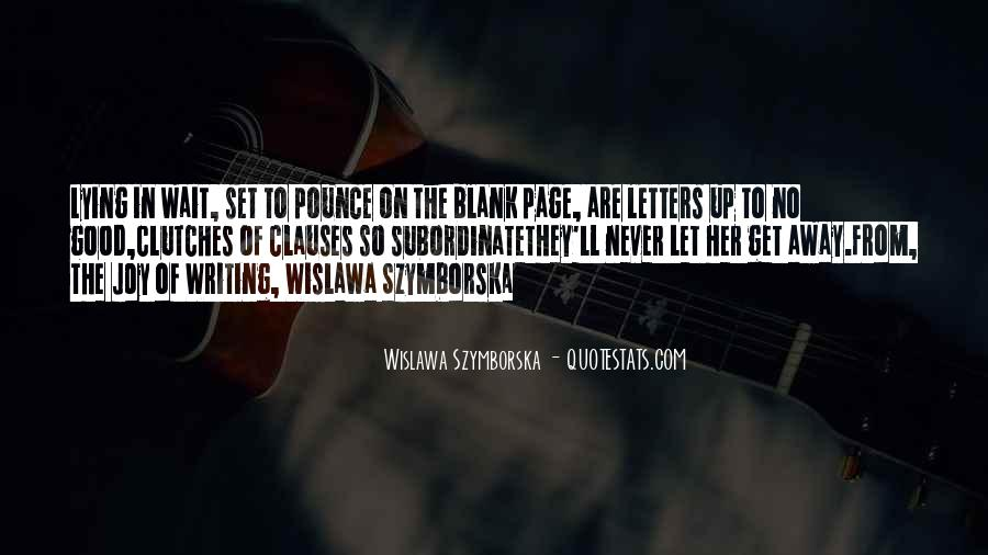 Quotes About Blank Page #832379