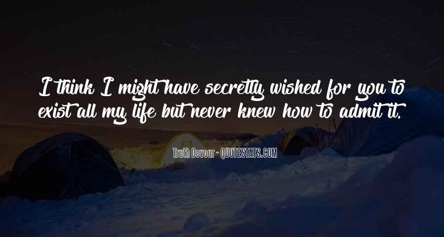 Quotes About My Secret Love #1449009