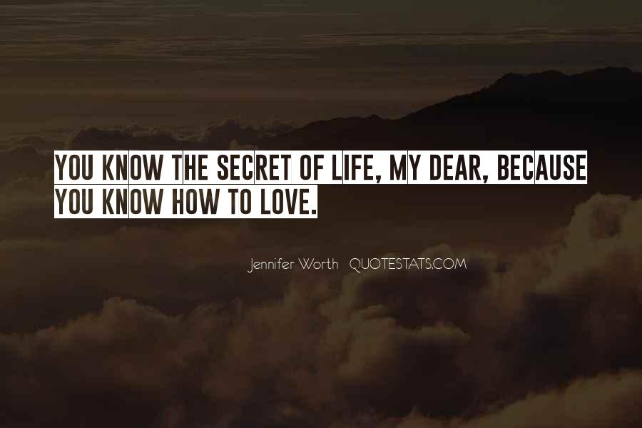 Quotes About My Secret Love #1540979