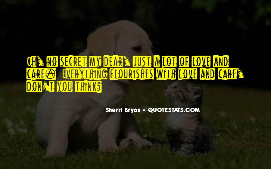 Quotes About My Secret Love #293230