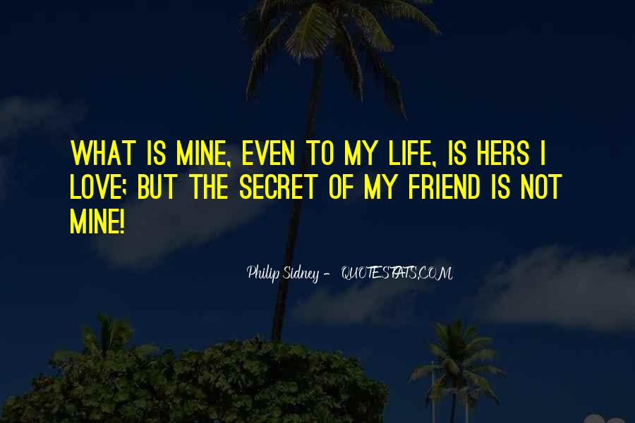 Quotes About My Secret Love #494510