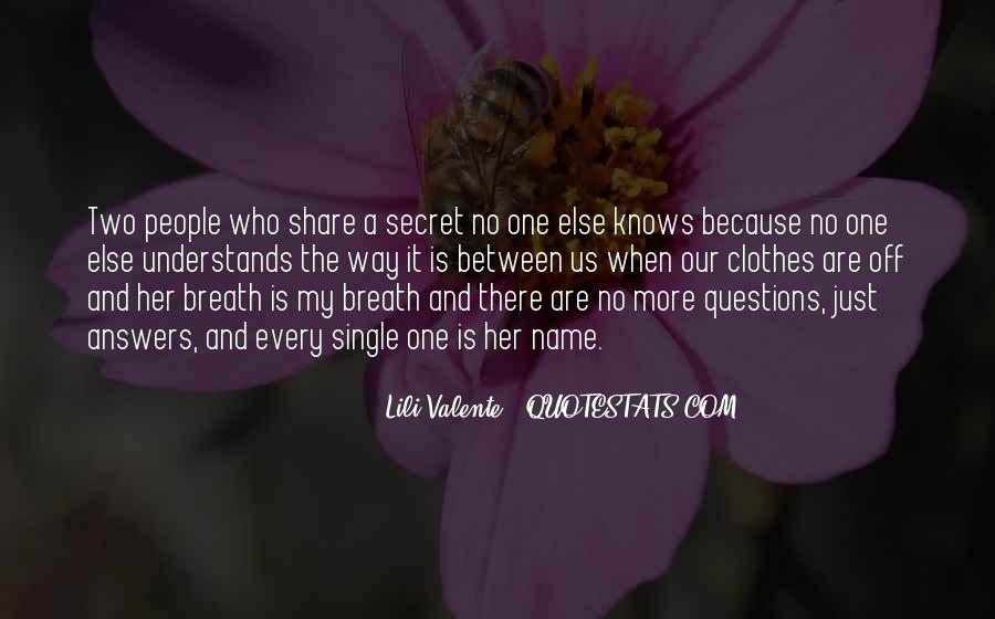 Quotes About My Secret Love #76041