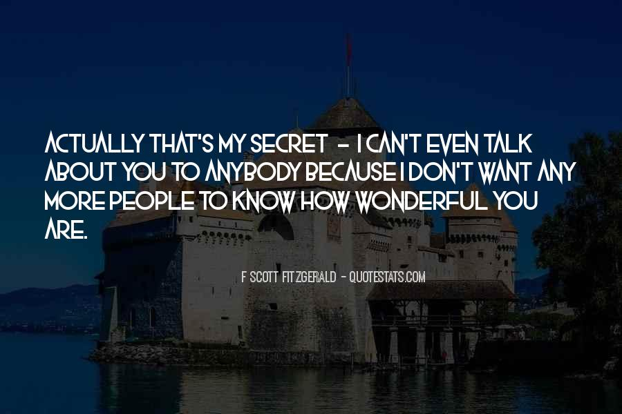 Quotes About My Secret Love #815681