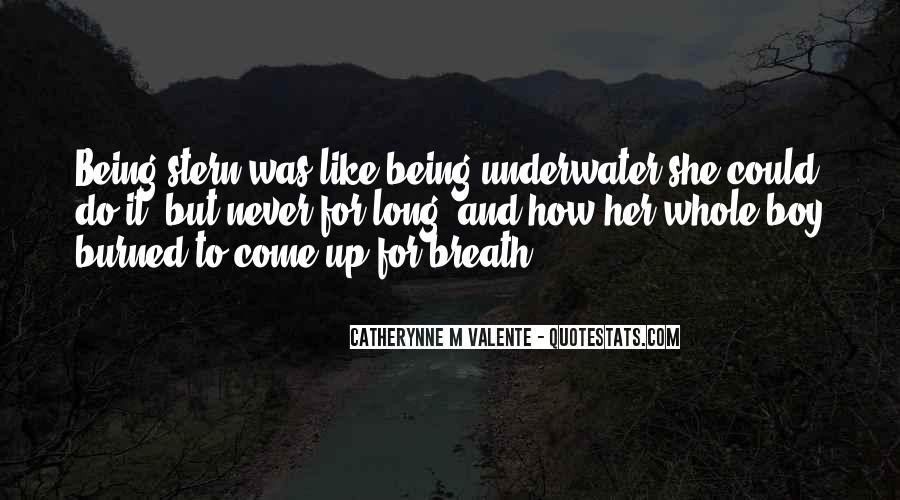 Quotes About Being Underwater #206431