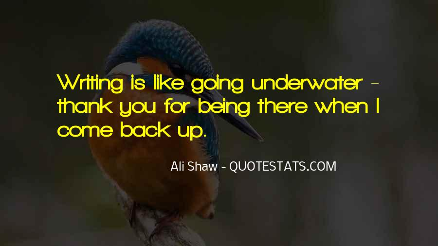 Quotes About Being Underwater #447770