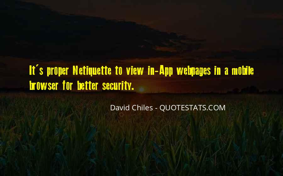 Quotes About Mobile Security #328014