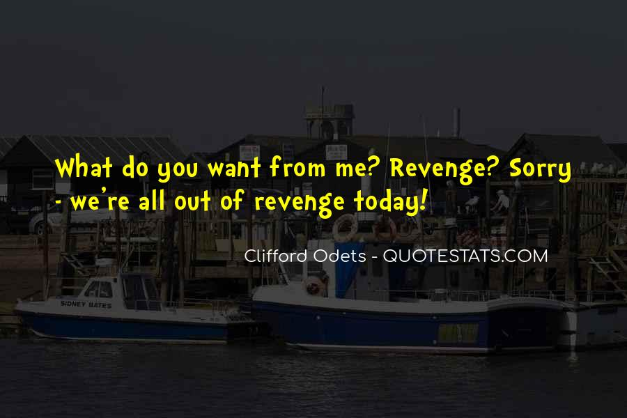 Quotes About Revenge From Revenge #1489580