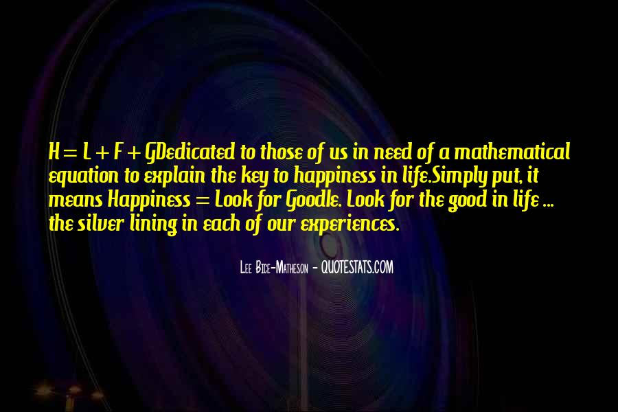 Quotes About Life Of Happiness #33606