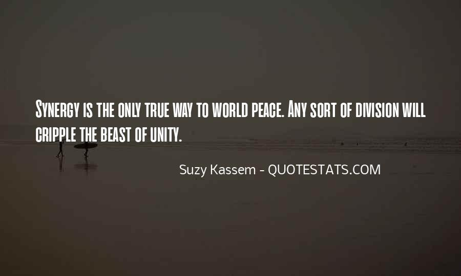 Quotes About World Unity #1003847