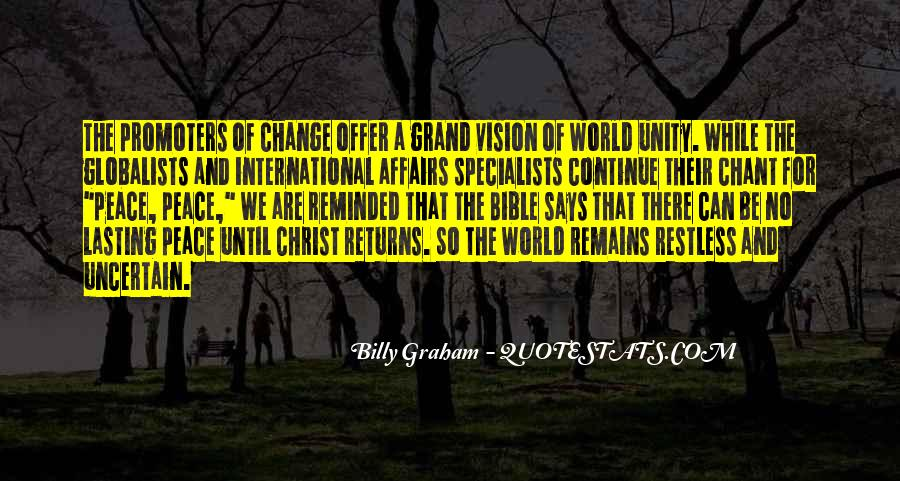 Quotes About World Unity #237154