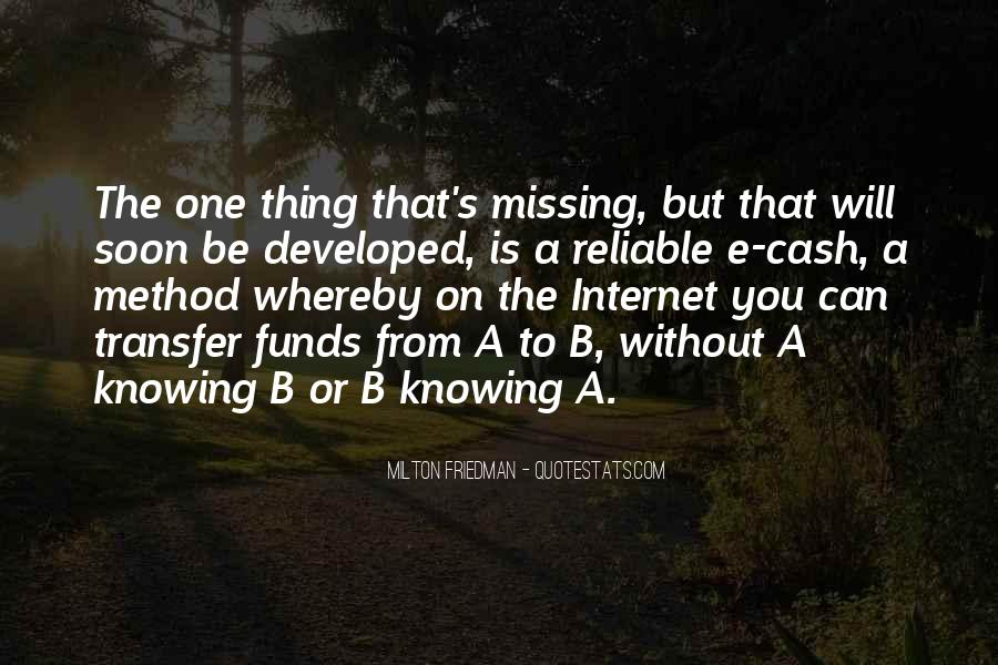 Quotes About Not Knowing What You're Missing #1751275