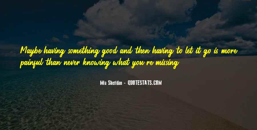 Quotes About Not Knowing What You're Missing #737764