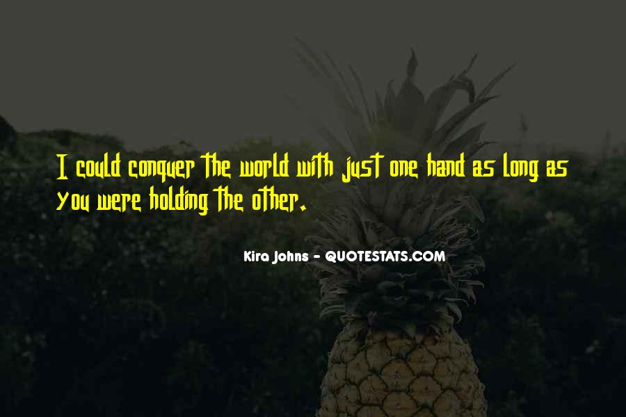 Quotes About Hand Holding #105006