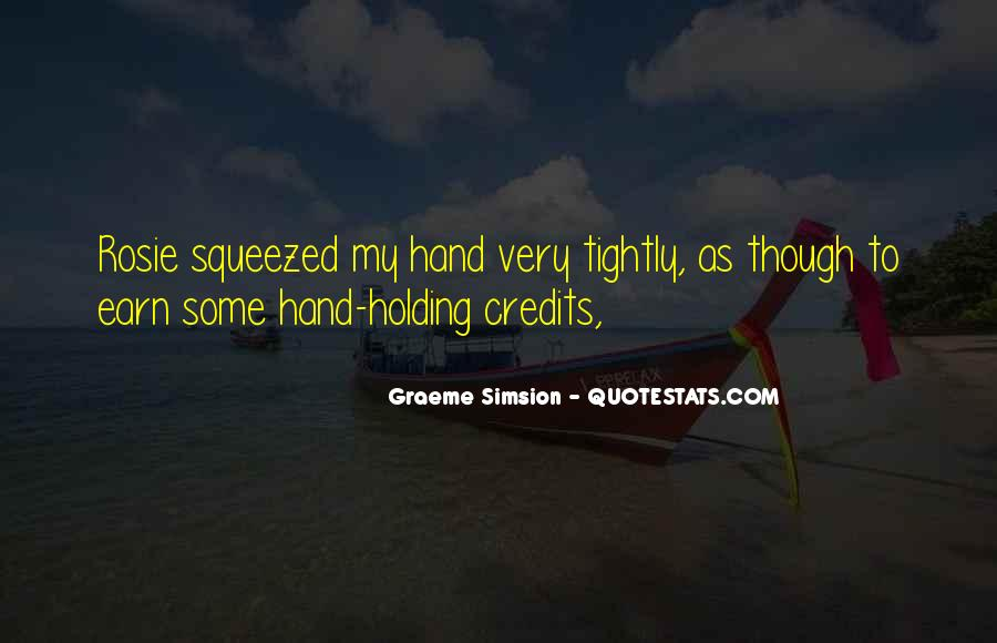 Quotes About Hand Holding #323420