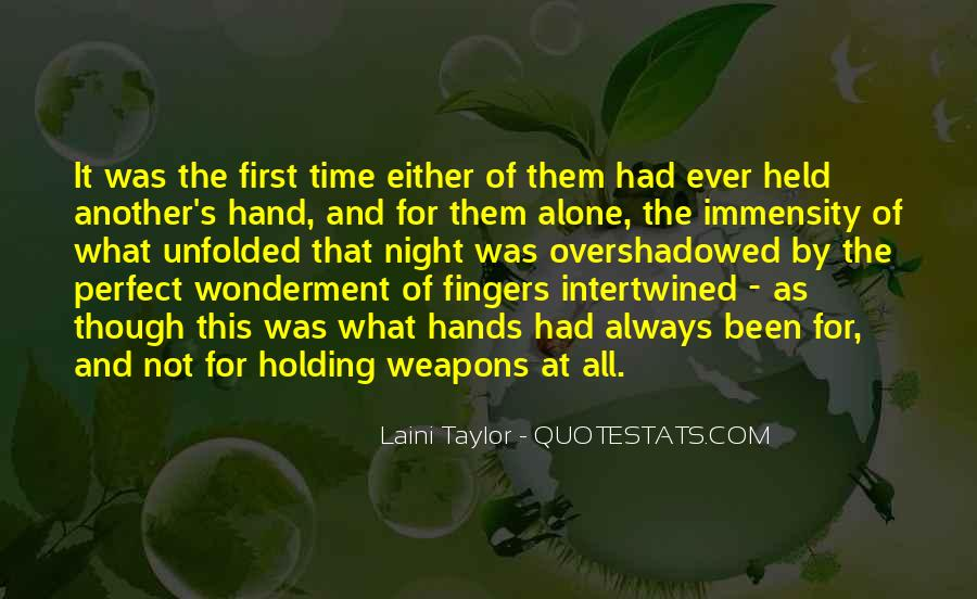 Quotes About Hand Holding #342358