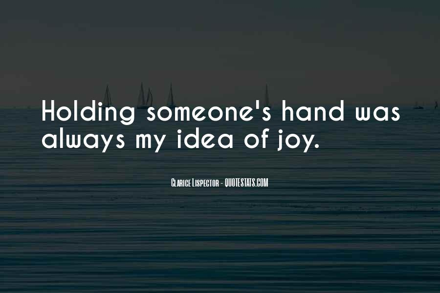 Quotes About Hand Holding #44611