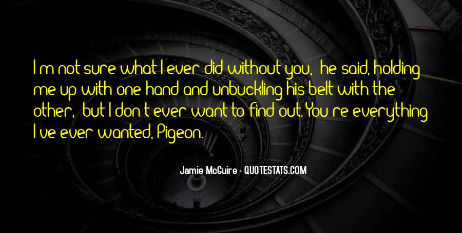 Quotes About Hand Holding #65796