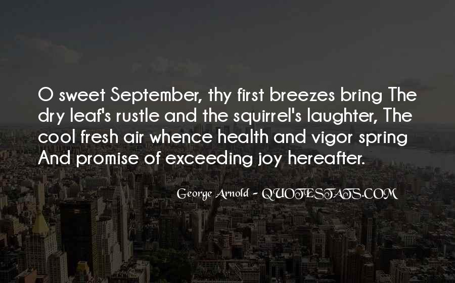 Quotes About September First #662251