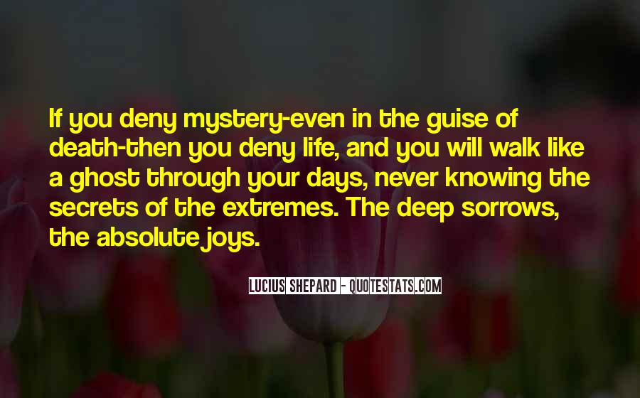 Quotes About The Mystery Of Death #795841