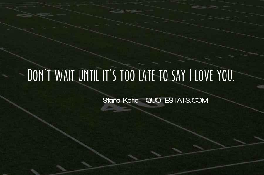 Quotes About Waiting For Someone To Say I Love You #337667