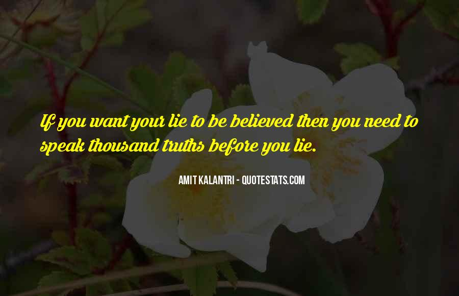 Quotes About Not Telling A Lie #338362