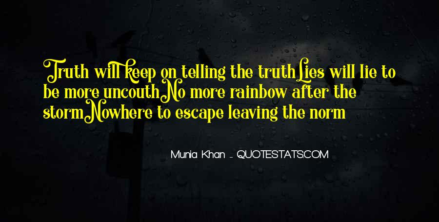 Quotes About Not Telling A Lie #75040