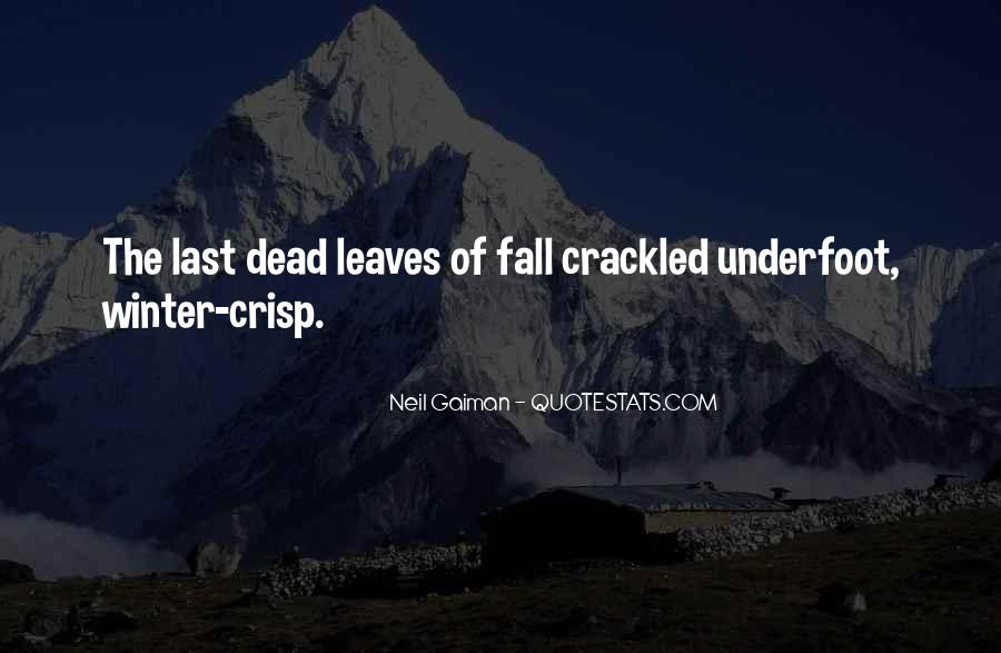 Quotes About Fall Leaves #557181