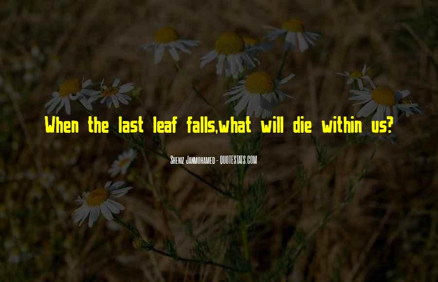 Quotes About Fall Leaves #74030