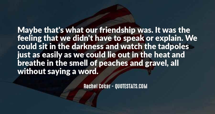 Quotes About Rachel In Speak #662723