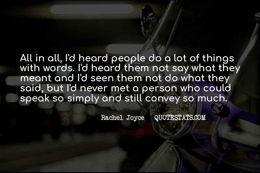 Quotes About Rachel In Speak #879351