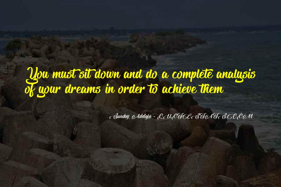 Quotes About Achievement And Dreams #1163497