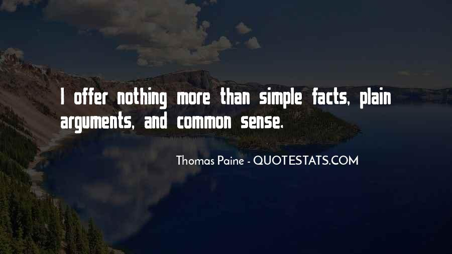 Quotes About Common Sense By Thomas Paine #1705848