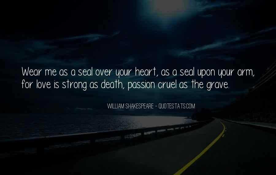 Quotes About Love And Death Shakespeare #1172721