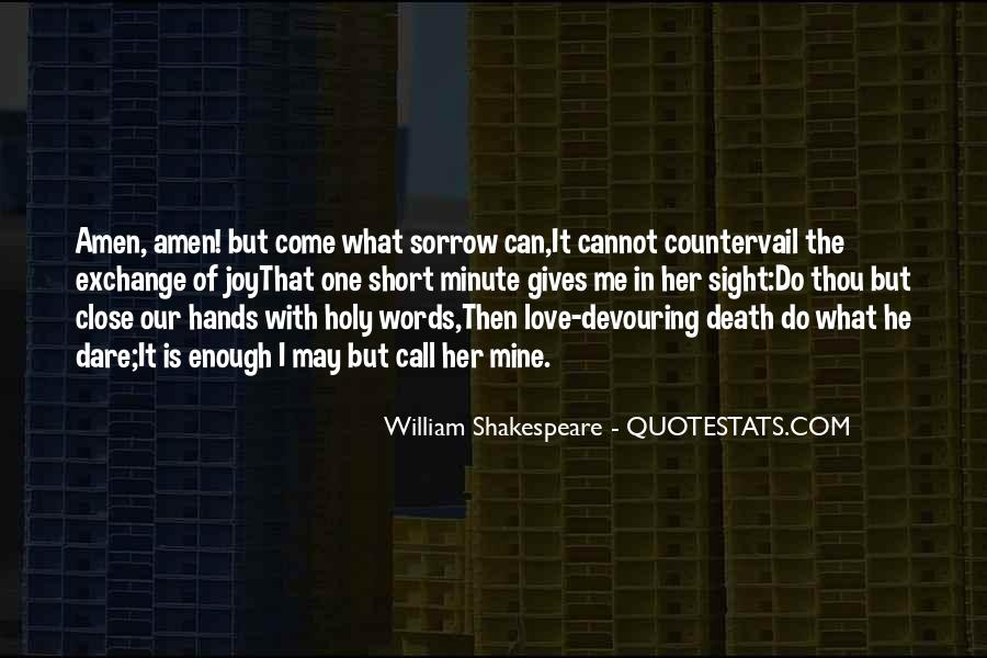Quotes About Love And Death Shakespeare #1707413