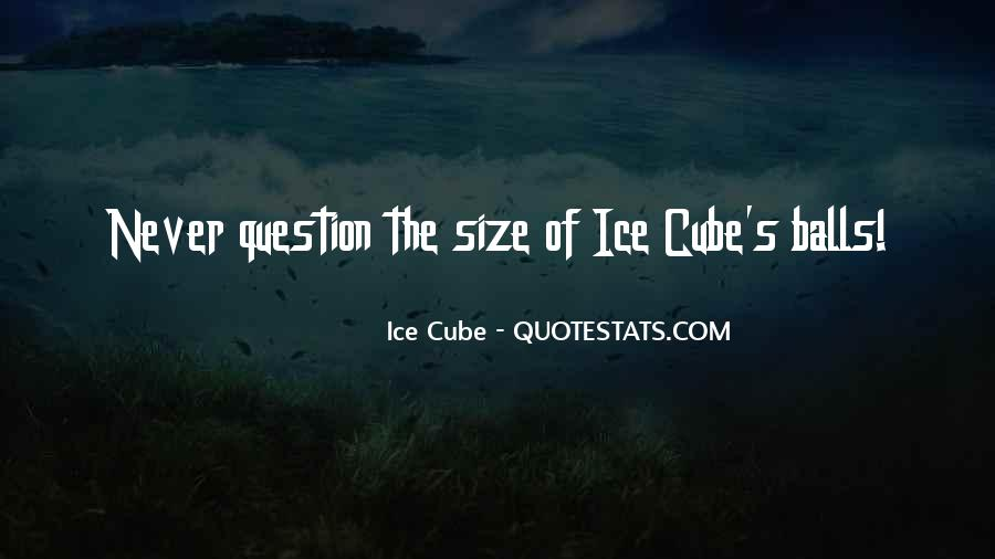 Quotes About Ice Cubes #389198
