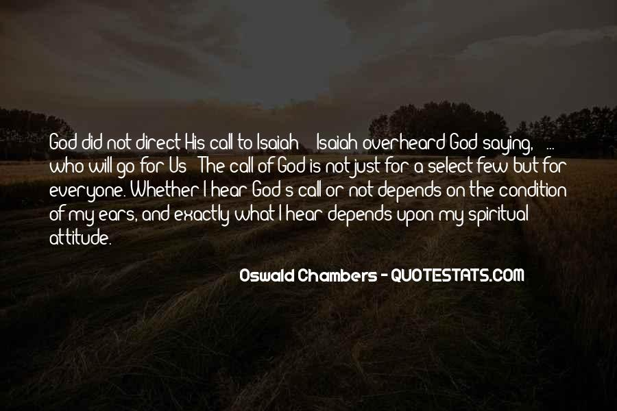 Quotes About God Calling Us #1390348