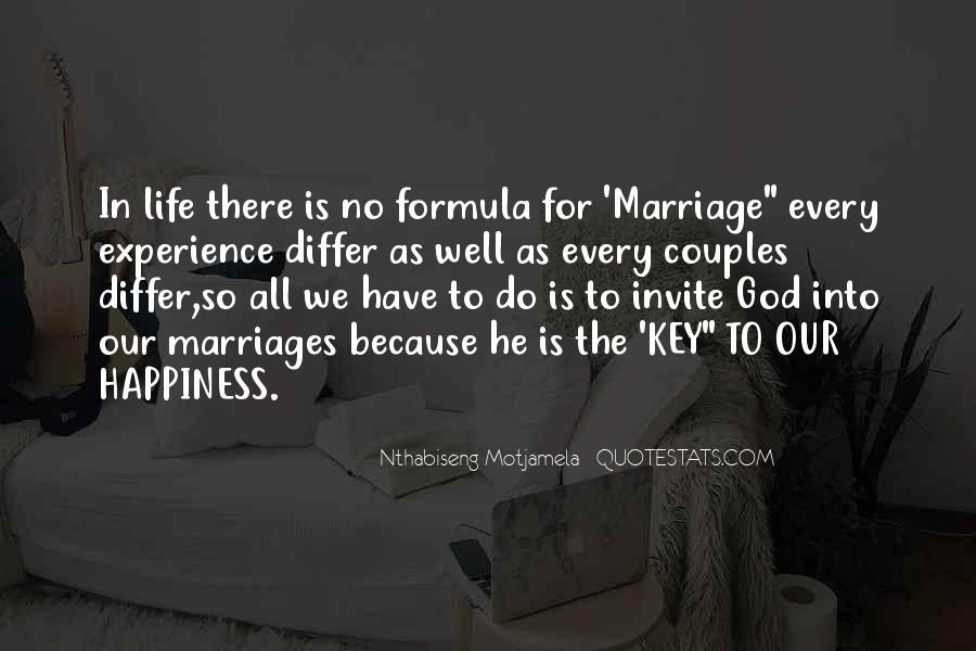 Quotes About Happiness In Marriage Life #1093932
