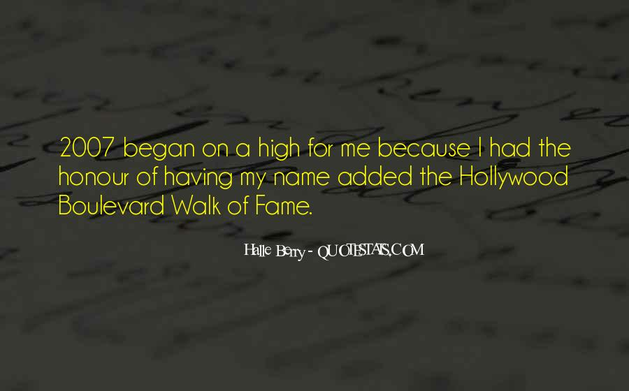 Quotes About The Hollywood Walk Of Fame #1536751