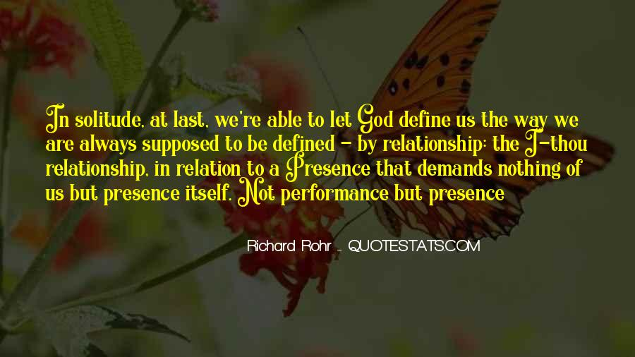 Quotes About Solitude With God #1005240