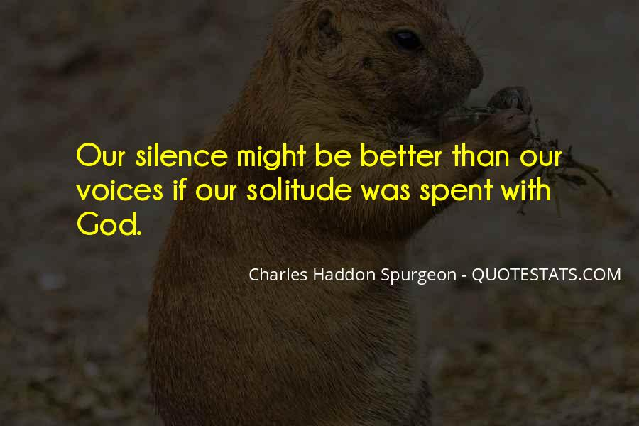 Quotes About Solitude With God #1181378