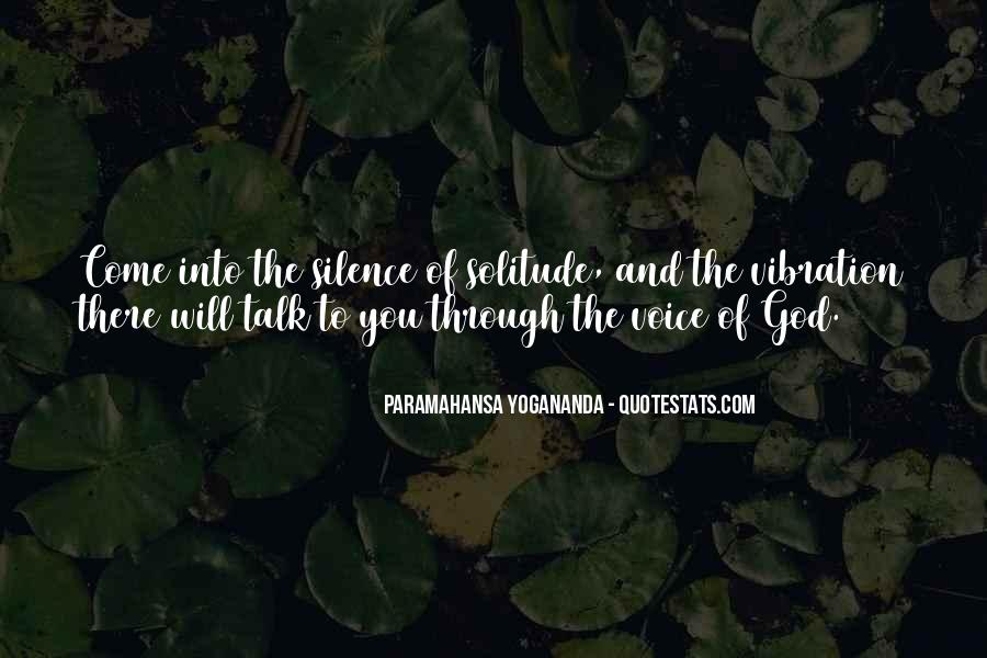 Quotes About Solitude With God #1190989