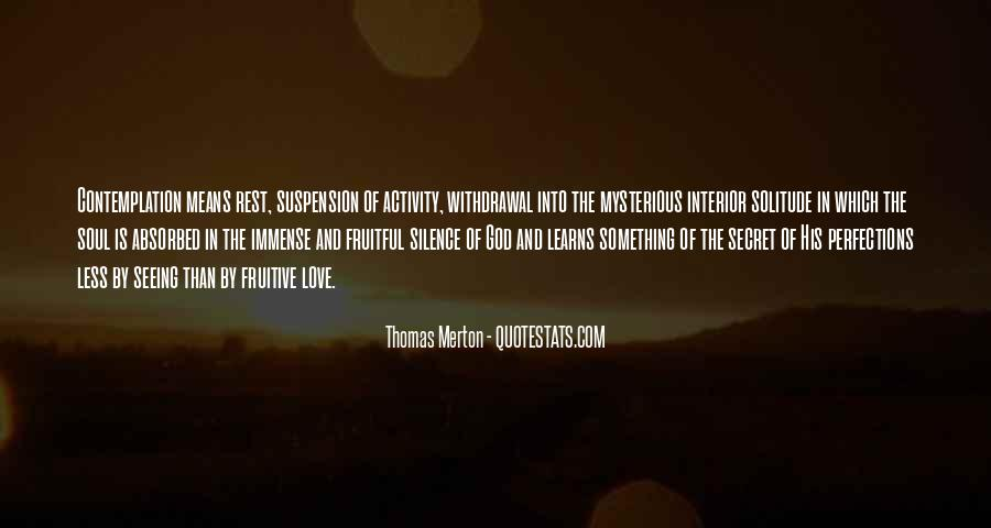 Quotes About Solitude With God #1335023