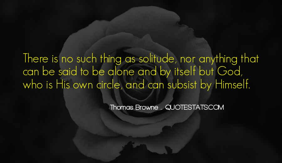 Quotes About Solitude With God #1396758