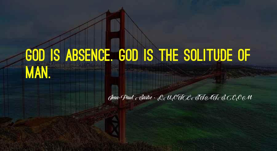 Quotes About Solitude With God #1455594